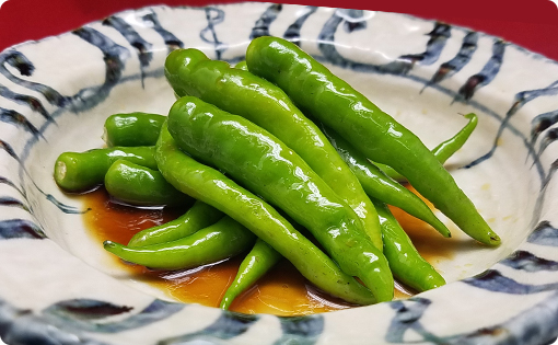 Sweet and Spicy Boiled Fushimi Red Pepper